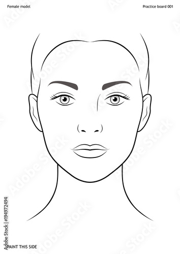Practice board for face painting Canvas-taulu