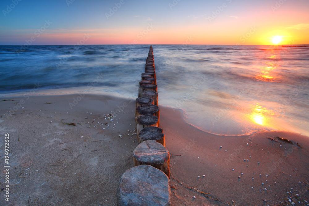 Fototapeta Sonnenuntergang am Meer