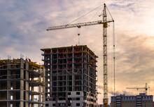 Building Crane And Building Un...
