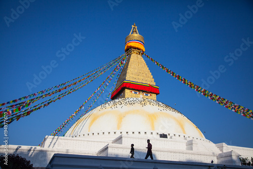 Foto op Aluminium Nepal Bodnath Stupa, Kathmandu, Nepal