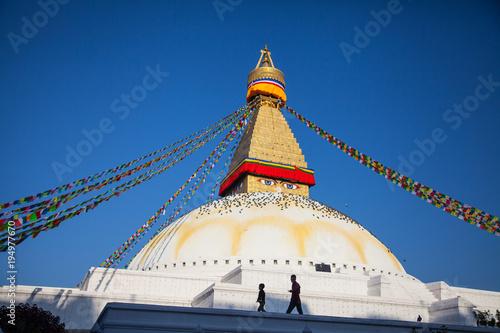 Staande foto Nepal Bodnath Stupa, Kathmandu, Nepal