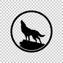 Wolf. Simple Icon. On Transpar...