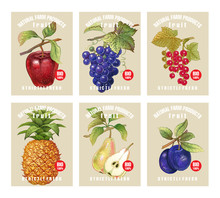 Price Tags For Berries And Fruits.
