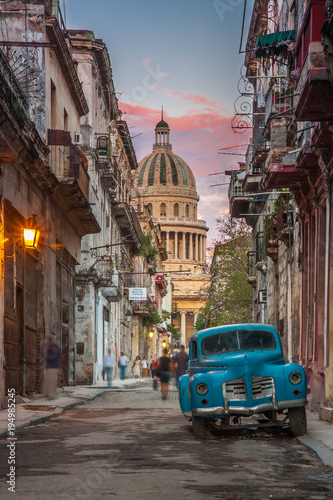 Canvas Prints Havana La Havana near Capitolio