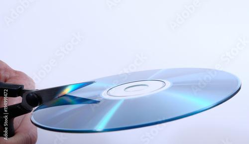 Valokuva  Zerstörung der Daten auf einer CD