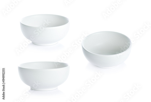 Photo  White bowl on white background