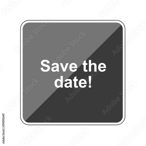 save the date reflektierender app button buy this stock vector