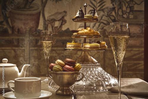 Fototapeta afternoon tea in the hotel lobby obraz