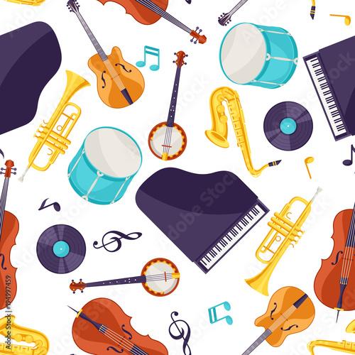 muzyka-jazzowa-bez-szwu-z-instrumentami-muzycznymi