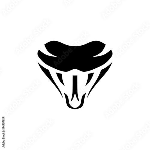 Naklejka premium wąż znak symbol ikona logo szablon logo