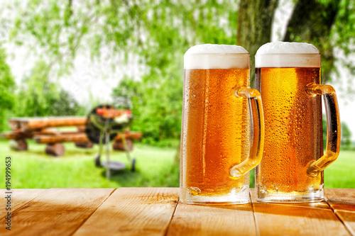 Montage in der Fensternische Bier / Apfelwein beer and grill time