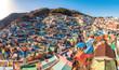 Leinwanddruck Bild - Gamcheon Culture Village Beautiful color ,Busan , South Korea