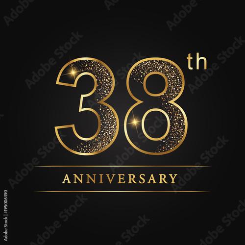 Fotografia  anniversary,aniversary,thirty-eight years anniversary celebration logotype