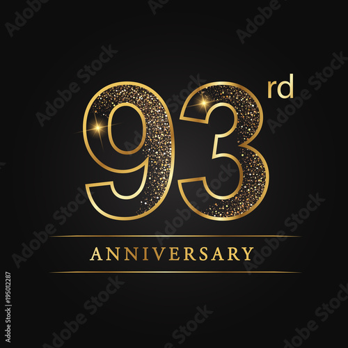 Fotografie, Obraz  anniversary, aniversary, ninety-three year anniversary celebration logotype