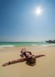 Woman at the beach in Koh Poda island Thailand