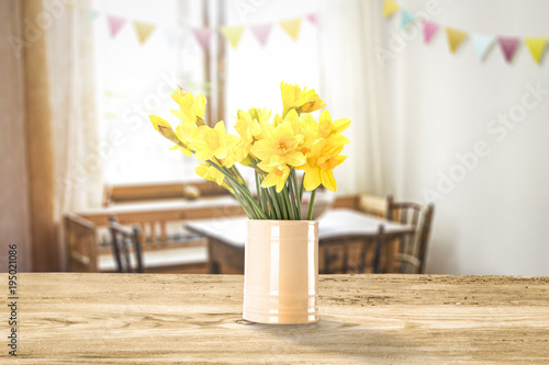 Fototapeta Easter table background and free space for your decoration.  obraz na płótnie