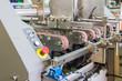 Industrial robot working in factory,Industry 4.0 Robot concept .