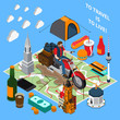 Tourist Lifestyle Isometric Composition