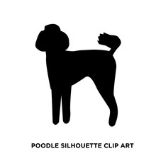 Poodle Silhouette Clip Art On White Background