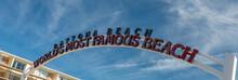 Entrance Sign Of Beach Road, Daytona Beach, Florida