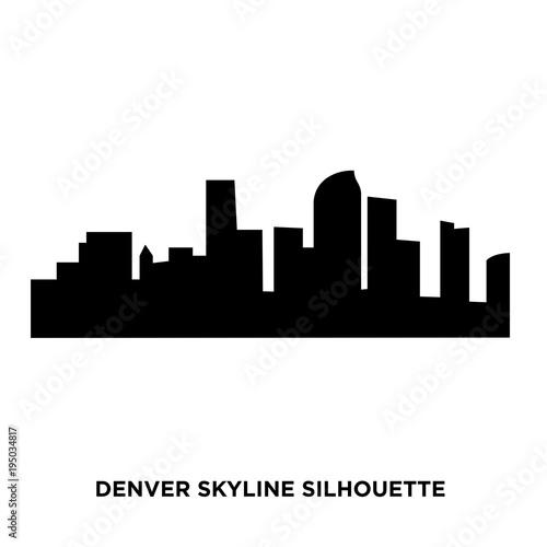 Fototapety, obrazy: denver skyline silhouette on white background