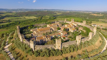 Monteriggioni, Tuscany. Awrial...