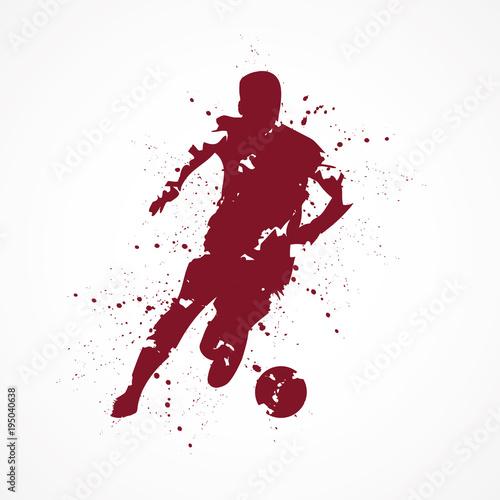 Fotografie, Obraz Footballeur-tâches-rouge