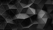 Black construction with lines and low poly shape. Abstract 3D render of polygonal surface. Seamless loop smooth animation 4k UHD (3840x2160)