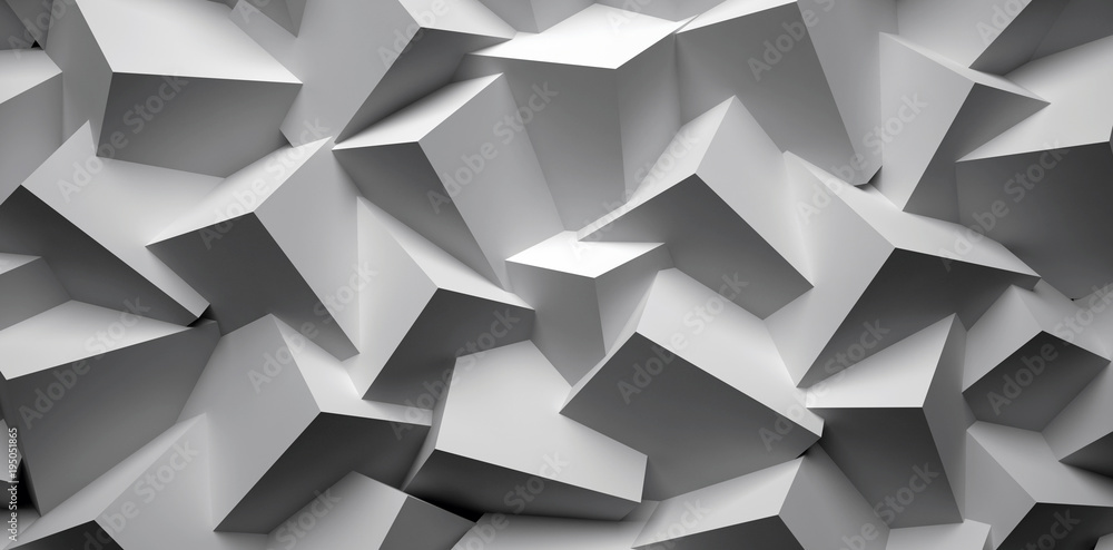 Fototapety, obrazy: 3D abstract background. Illustration of geometric stones