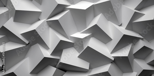 Fototapeta 3D abstract background. Illustration of geometric stones obraz