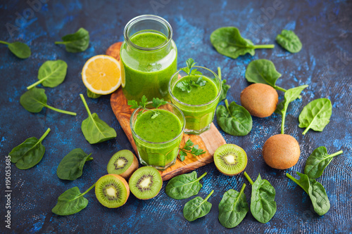 Photo  healthy green smoothie