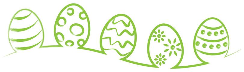 Ostern Osterei Eier Strich ...