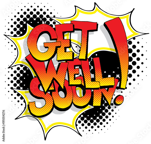 Vászonkép  Get Well Soon Comic Book Words