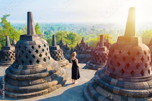 Foto op Aluminium Indonesië Borobudur, greatest Buddhist temple - Java, Indonesia.