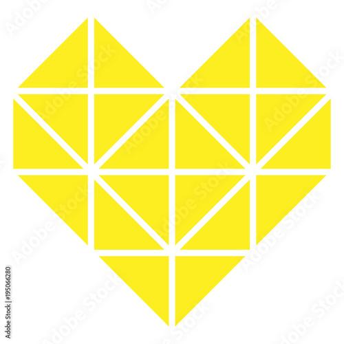 Obraz na plátně  Cuore Giallo Geometrico