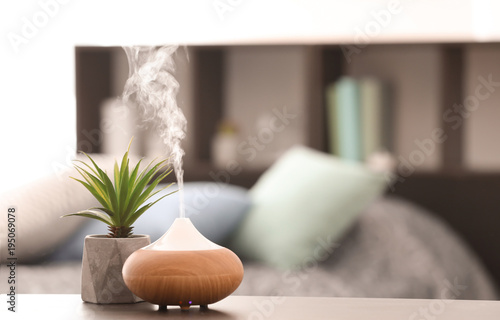 Aroma lamp on table Canvas Print
