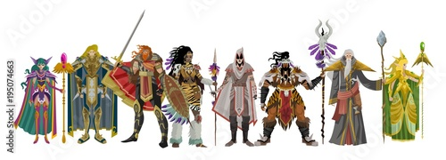 Fotografie, Tablou  rpg fantasy characters