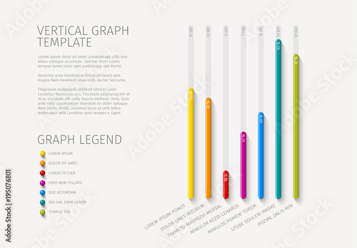 Colorful Vertical Bar Graph Layout  Buy this stock template and