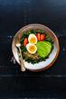 Quinoa, kale and egg bowl