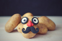 Funny Potato Head With Face