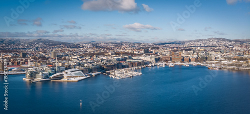 Photo  Panorama of Oslo, Norway: Tjuvholmen, Aker Brygge & City Hall