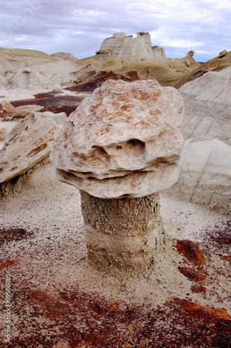 Fotografie, Obraz  hoodoo rock formation of the desert badlands in the Bisti De Na Zin wilderness i