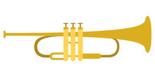 Isolated Trumpet Icon. Musical...