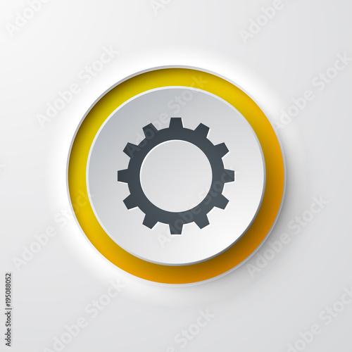 Fotografie, Obraz icône bouton Engrenage