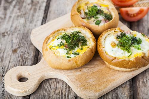 Plakat Jajecznica z serem i boczkiem
