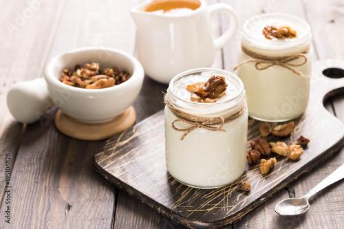 Fotobehang Zuivelproducten Georgian yoghurt matsoni