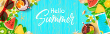 Hello Summer Web Banner. Top V...