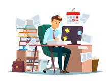 Man Overwork In Office, Deadli...