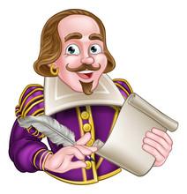 William Shakespeare Cartoon