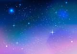Fototapeta Kosmos - カラフル宇宙01